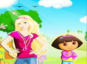 Barbie-game-with-dora